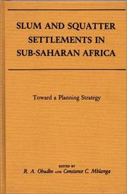 Cover of: Slum and squatter settlements in Sub-Saharan Africa |