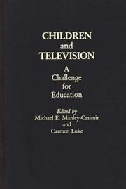Cover of: Children and television |