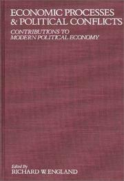Cover of: Economic processes and political conflicts |