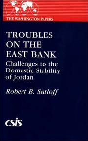 Cover of: Troubles on the East Bank | Robert B. Satloff