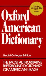 Cover of: Oxford American Dictionary