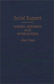 Cover of: Social support