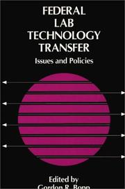 Cover of: Federal lab technology transfer |