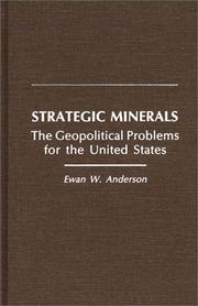 Cover of: Strategic minerals