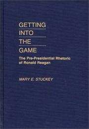 Cover of: Getting into the game