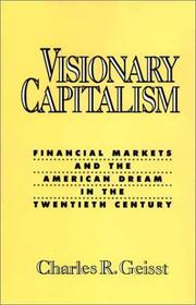Cover of: Visionary capitalism