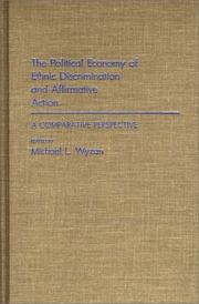 Cover of: The Political economy of ethnic discrimination and affirmative action |