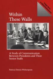 Cover of: Within these walls | Patricia Dennis Witherspoon