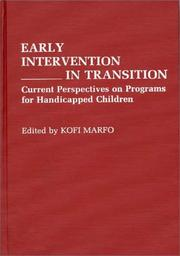 Cover of: Early intervention in transition |