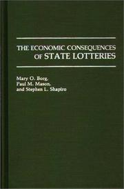 Cover of: economic consequences of state lotteries | Mary O. Borg