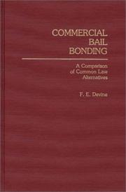 Cover of: Commercial bail bonding | F. E. Devine