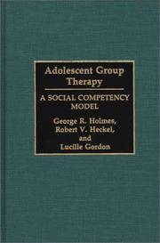 Cover of: Adolescent group therapy