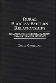 Cover of: Rural process-pattern relationships
