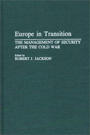 Cover of: Europe in Transition