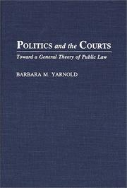 Cover of: Politics and the courts