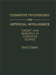 Cover of: Cognitive psychology and artificial intelligence