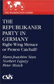 Cover of: The Republikaner party in Germany