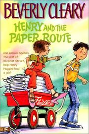 Cover of: Henry and the Paper Route (Henry Huggins)