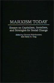 Cover of: Marxism today |