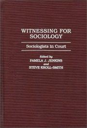 Cover of: Witnessing for Sociology |