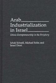 Cover of: Arab industrialization in Israel