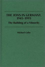 Cover of: The Jews in Germany, 1945-1993