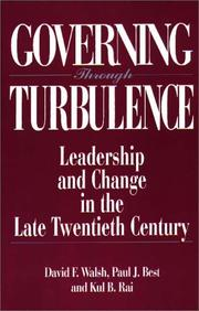 Cover of: Governing through turbulence | David F. Walsh
