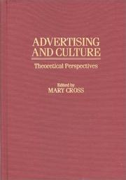 Cover of: Advertising and Culture | Mary Cross