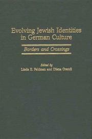 Cover of: Evolving Jewish identities in German culture |