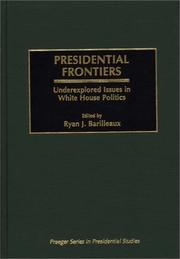 Cover of: Presidential Frontiers