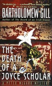 Cover of: The death of a Joyce scholar