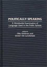 Cover of: Politically Speaking |