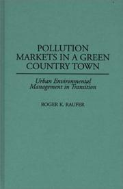 Cover of: Pollution markets in a green country town