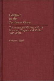 Cover of: Conflict in the Southern Cone