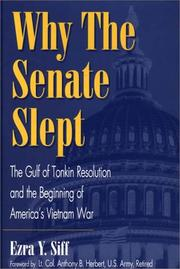 Cover of: Why the senate slept | Ezra Y. Siff