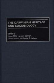 Cover of: The Darwinian Heritage and Sociobiology |