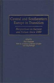 Cover of: Central and Southeastern Europe in Transition