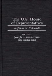Cover of: The U.S. House of Representatives