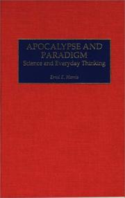 Cover of: Apocalypse and Paradigm | Errol E. Harris