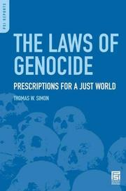 Cover of: The Laws of Genocide | Thomas W. Simon