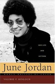 Cover of: June Jordan