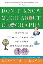 Cover of: Don't know much about geography: everything you need to know about the world but never learned