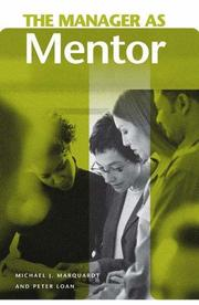 Cover of: The manager as mentor