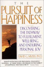 Cover of: Pursuit of Happiness: Who Is Happy - and Why?