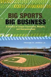 Cover of: Big Sports, Big Business | Frank P. Jozsa