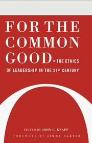 Cover of: For the Common Good