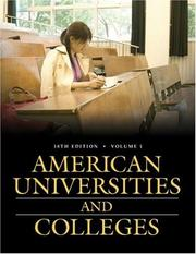 American universities and colleges by American Council on Education.
