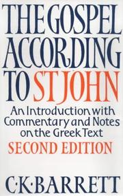 Cover of: The Gospel According to St.John