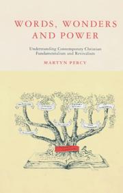 Cover of: Words, wonders and power | Martyn Percy