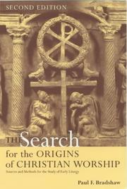 Cover of: Search for the Origins of Christian Worship